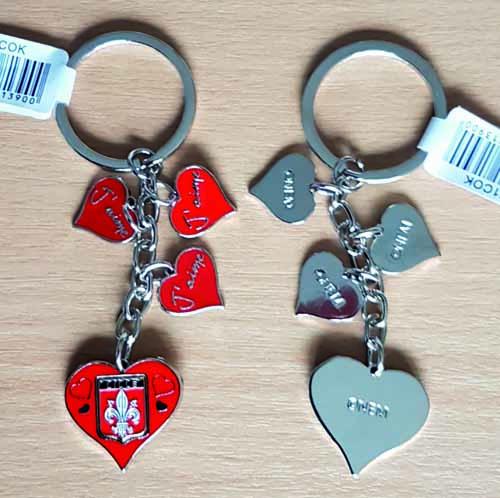 Porte-clés Lille Breloques Coeur