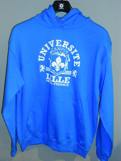 Sweat Université Lille bleu saphir