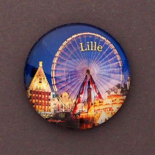 MAGNET BULLE LILLE ROUE