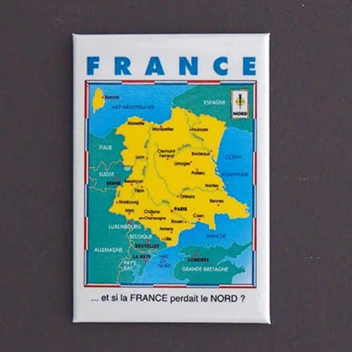MAGNET PLATE FRANCE A L'ENVERS
