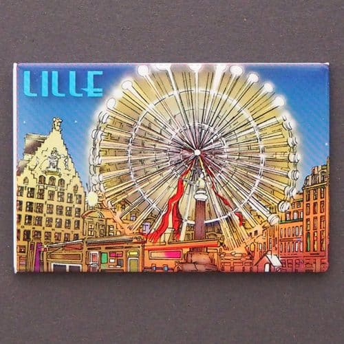 MAGNET PLATE LILLE ROUE DESSIN