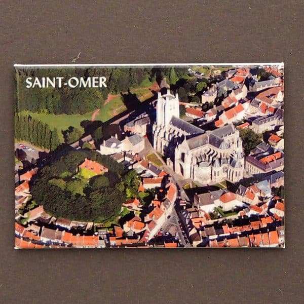 magnet plate st omer cathedrale aerien