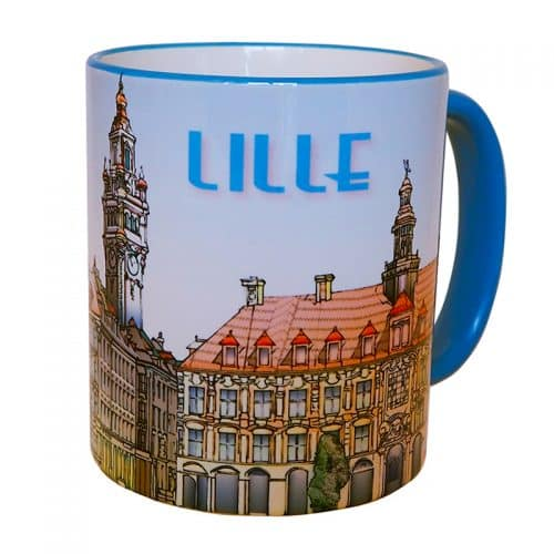 MUG LILLE GRAND PLACE BLEU